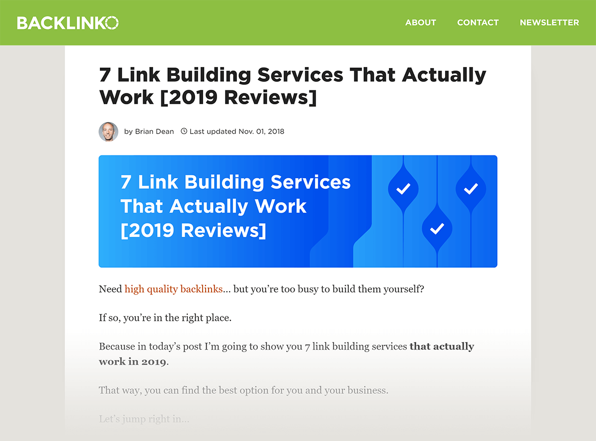 "Post anterior ""Linkbuilding Services"""