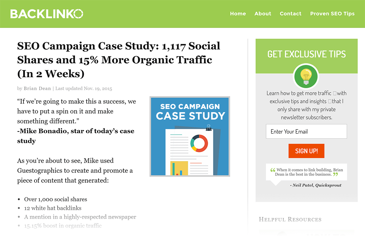 "Idade Backlinko Post ""SEO Campaign"""