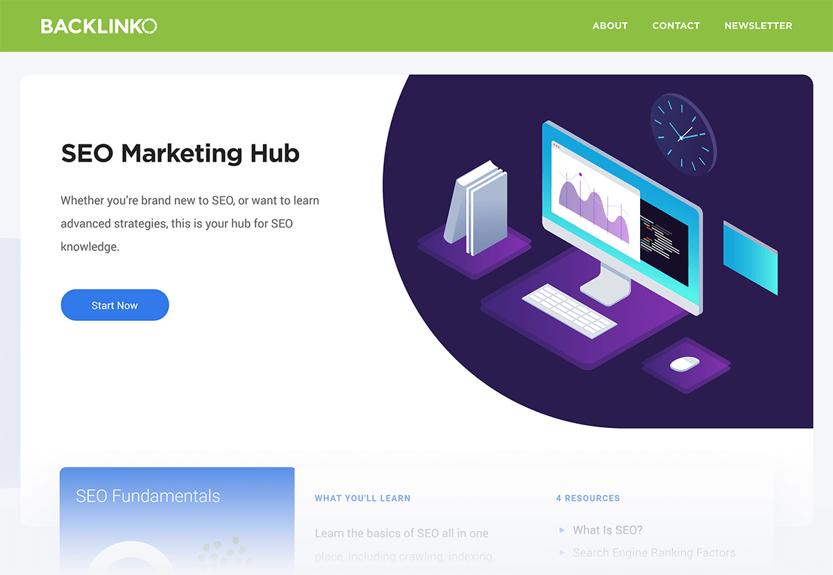 Backlinko - SEO Marketing Hub