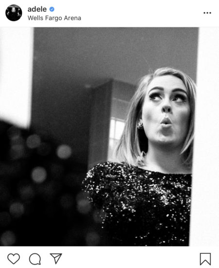 adele instagram account