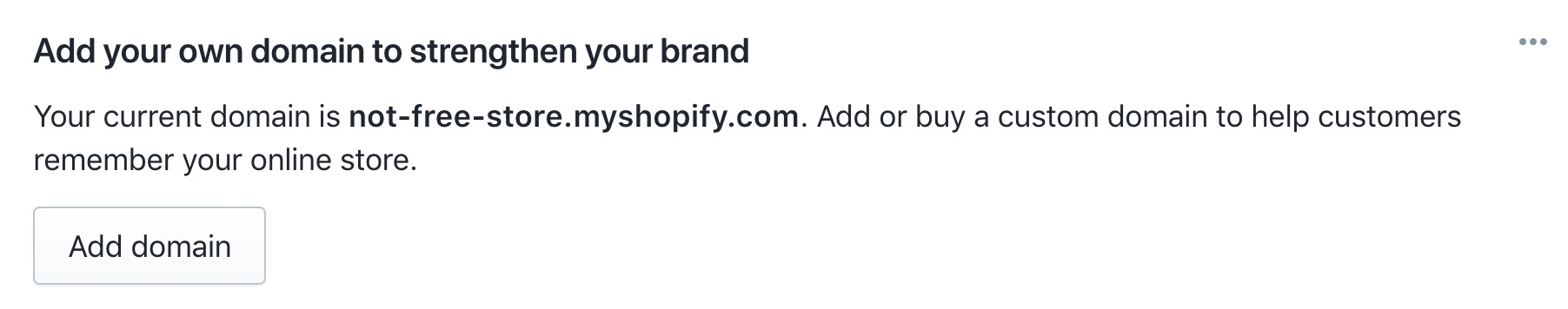 Registre nomes de domínio do Shopify