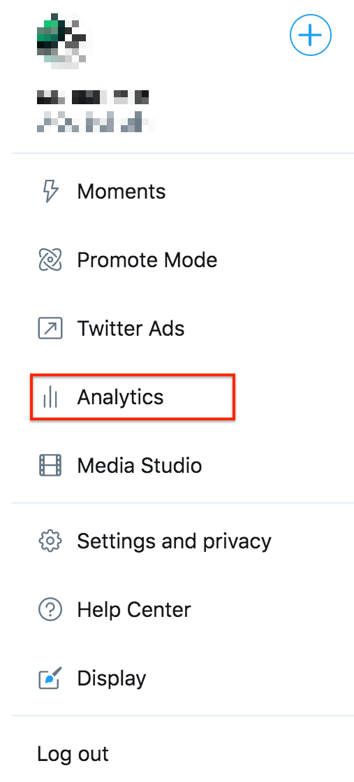 Como obtenho o Analytics no Twitter?